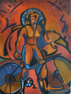 Female Astride Bike