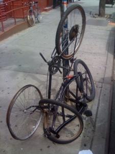 Abandoned Bike Yoga