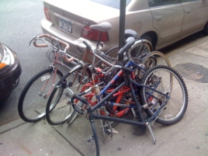 Abandoned bike scrum
